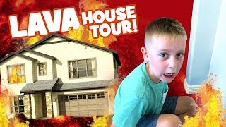 The Floor is Lava HOUSE TOUR Edition! Family Fun Challenge by KIDCITY