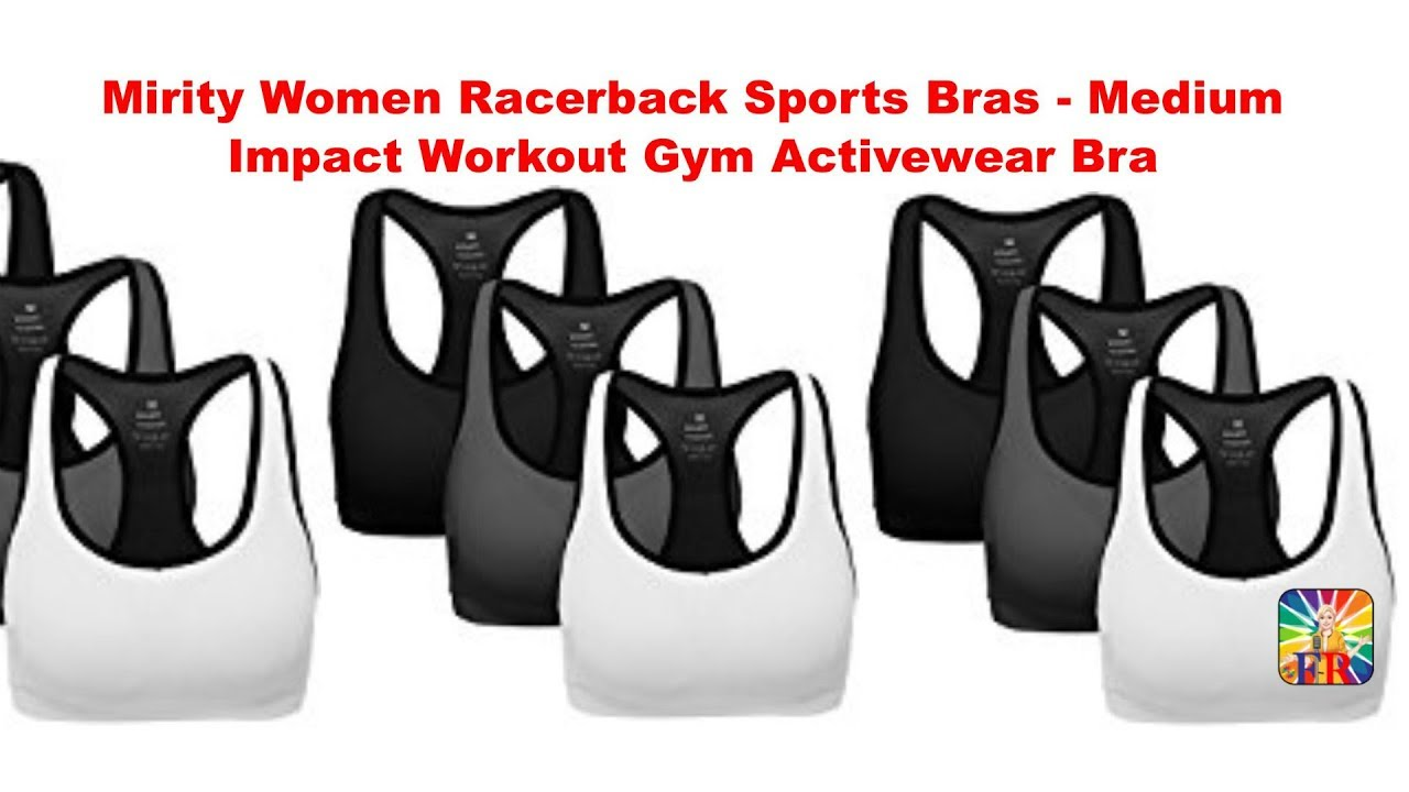 82230713c4e7f Women Racerback Sports Bras review by Fashions Reviews - YouTube