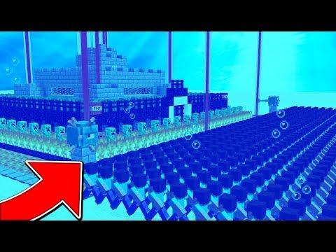 1,000 FANS VS. WORLD'S SAFEST UNDERWATER BASE! - (Ft. UnspeakableGaming & MooseCraft)