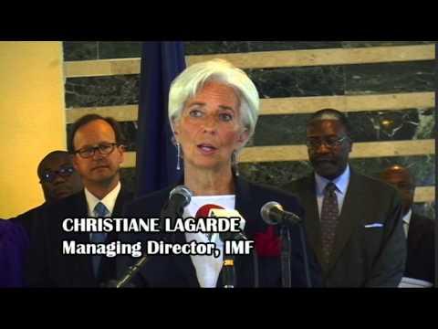 IMF LAGARDE COMMENDS PREZ SIRLEAF LEADERSHIP IN THE EBOLA FIGHT