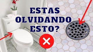 ESPACIOS SECRETOS EN EL BAÑO QUE ESTAS OLVIDANDO LIMPIAR Porque necesitas limpiar estos espacios!