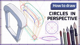 How to draw CIRCLES and OVALS in PERSPECTIVE - Mink