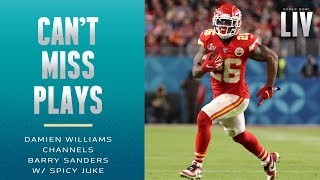 Damien Williams Channels Barry Sanders w/ Spicy Juke Move | Super Bowl LIV