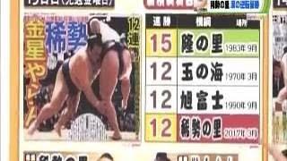 平成29年 大相撲春場所 千秋楽 照ノ富士―稀勢の里 06:40 本割 (立ち合い...