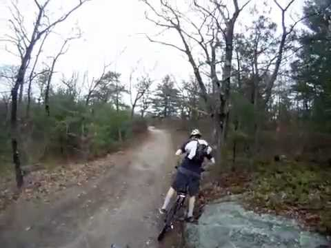 Mountain biking Blue Hills 4/28/2011