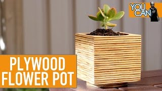 How To Make A Sexy Wooden Flower Pot With A Hole Saw