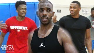 Chris Paul, Russell Westbrook, Antonio Blakeney at Rico Hines UCLA Run! Pascal Siakam