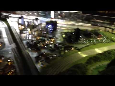 Kyoto Model Railway Diorama - night scene