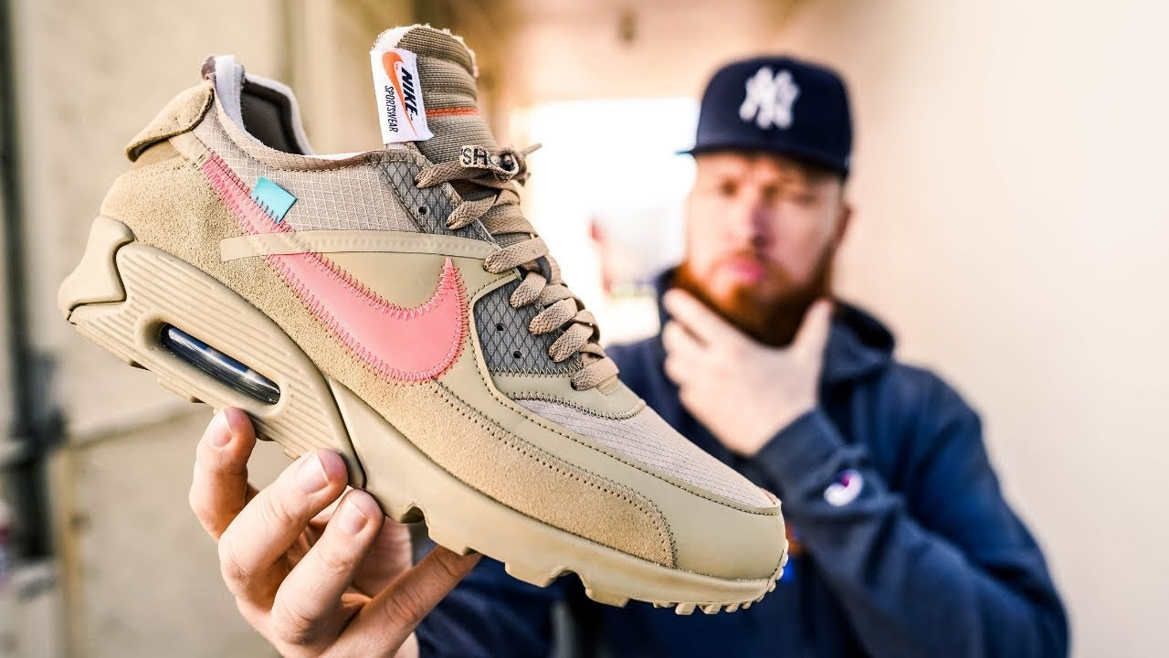 HOW GOOD IS THE OFF WHITE NIKE AIR MAX 90 DESERT ORE?! (Early In Hand & On Feet Review)