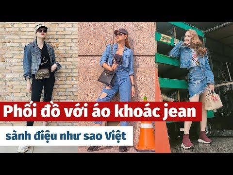 Cách Phối đồ Với áo Khoác Jean Sành điệu Như Sao Việt