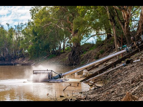 Fish Friendly Screen Installation In The Darling River