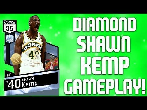 So Many DUNKS! Playoff Edition Diamond Shawn Kemp - NBA 2K17 MyTeam Gameplay
