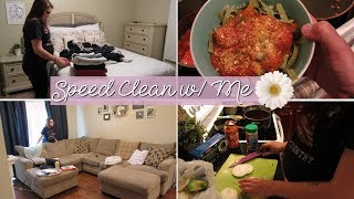 Speed clean with me | POWER HOUR motivation | 8 months pregnant