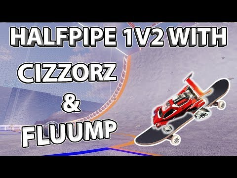 1v2 Challenge with Cizzorz & Fluump | Half Pipe Map in Rocket League! thumbnail