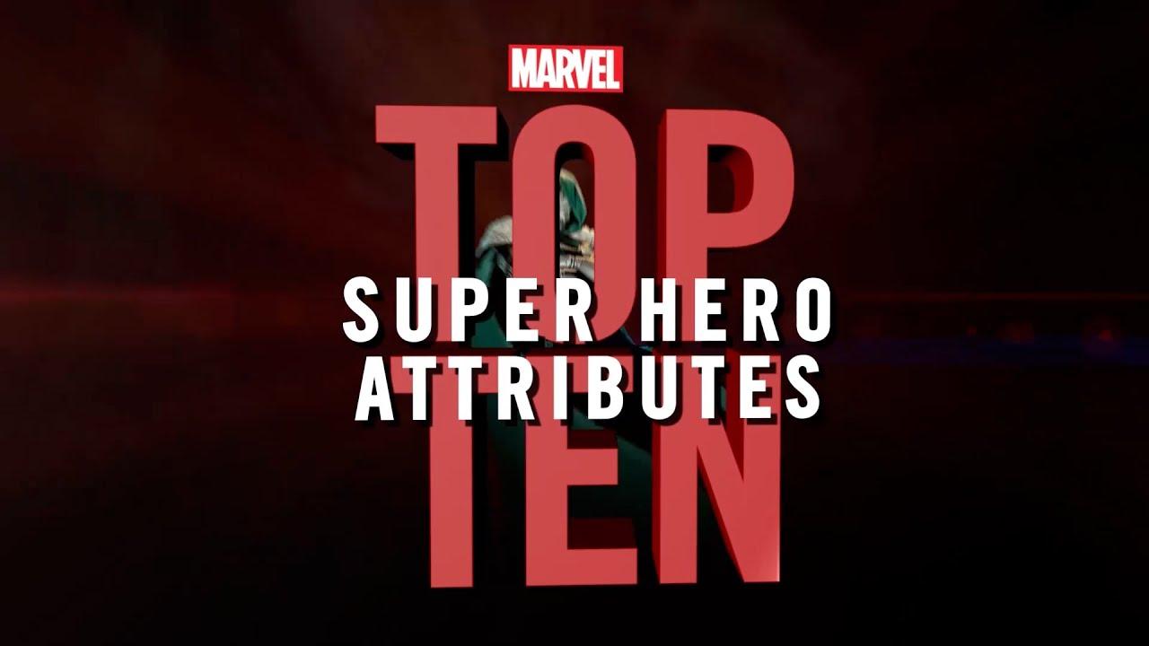 Marvel Top 10 Super Hero Attributes