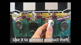 how to open and use a lucky line peg hook lock