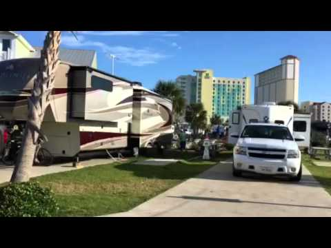 Our campground in Pensacola Beach, Florida