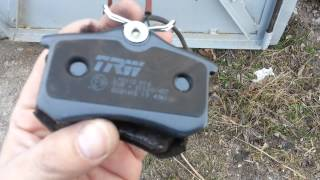 Тормозные колодки загорелись / brakes light vw(, 2015-03-14T22:19:06.000Z)