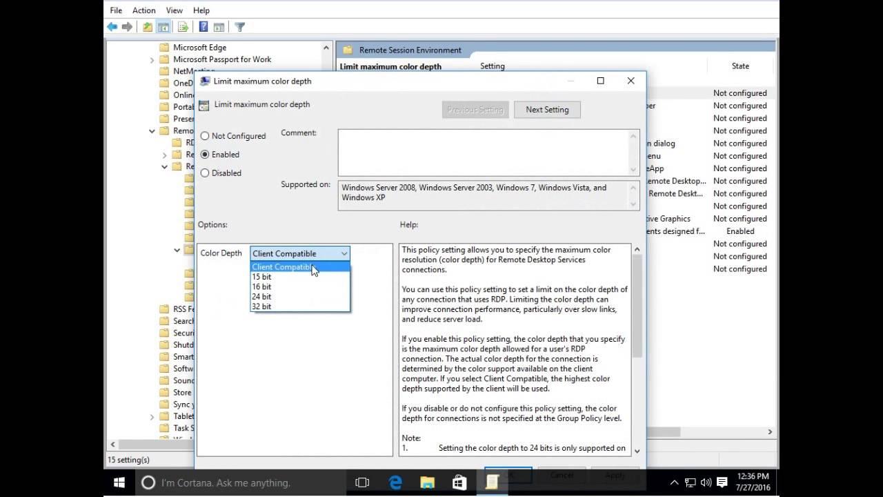 Thin client X6 login WIN 10 Server setup