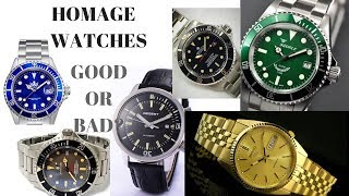 Should We Hate Homage Watches?