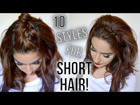 Hairstyles For Short Hair Fast : 10 easy hairstyles for short hair fast