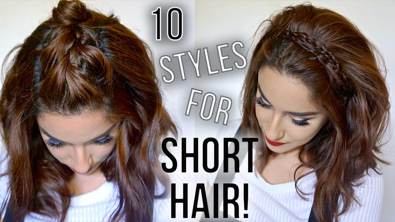 Cute Hair Styles For Medium Hair: 10 Hairstyles For Short Hair // Quick & Easy // How I
