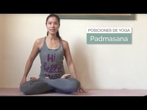 Posición de yoga: Padmasana (postura del loto)