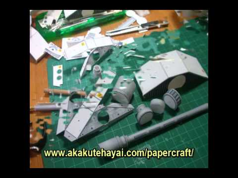 Papercraft STAR WARS スノースピーダー ペーパークラフト [ SNOW SPEEDER PAPER MODEL ]
