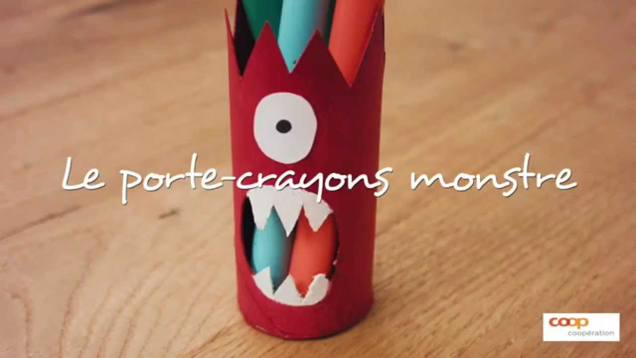 bricolage le monstre crayons youtube. Black Bedroom Furniture Sets. Home Design Ideas