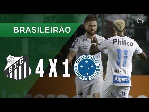 SANTOS 4 X 1 CRUZEIRO - GOLS - 23/11 - BRASILEIRÃO 2019
