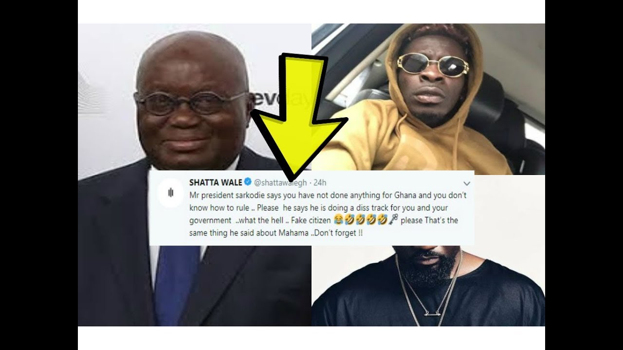 Shatta wale cautions  President Akuffo Addo on Sarkodie as sarkodie wants to visit Nana Addo