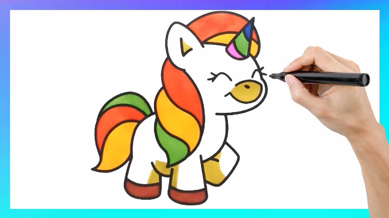 HOW TO DRAW AND PAINT A CUTE UNICORN