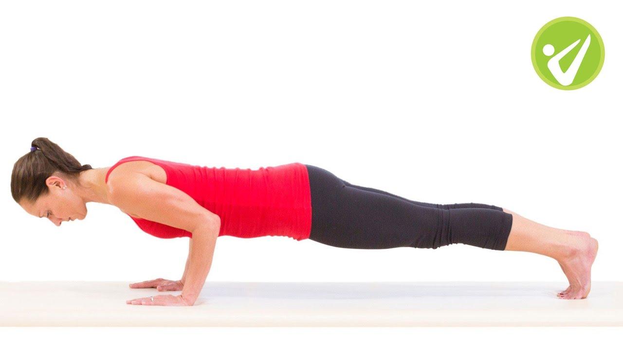 Push Up Pilates Exercise - Monica Wilson - YouTube