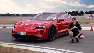 Beeindruckend: Porsche Taycan auf der Rennstrecke!