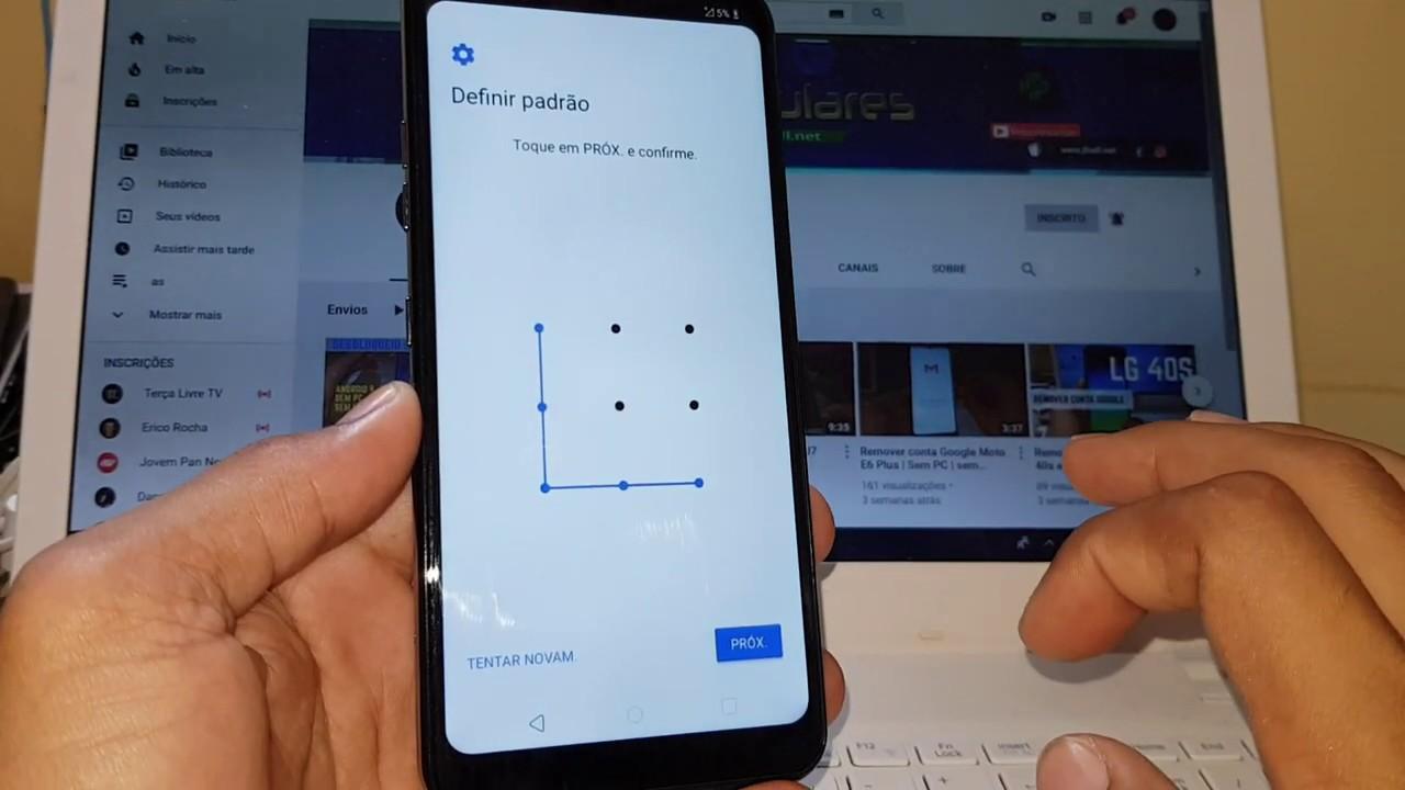Como remover conta Google LG k12 Max | Sem PC
