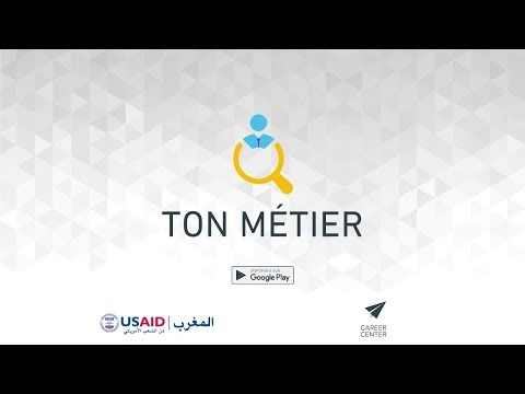 """Application """"Ton Métier"""" - Career Center"""