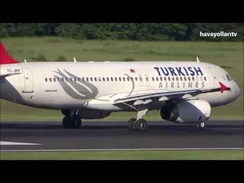 Türk Hava Yolları A 320-232 (Harran) iniş & uçuş CGN/Istanbul Atatürk (IST)