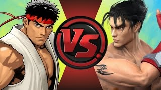 RYU vs JIN KAZAMA REMATCH! (Street Fighter vs Tekken) Cartoon Fight Club Episode 98