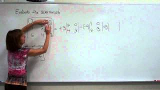 Evaluate the determinant of a 3X3 matrix