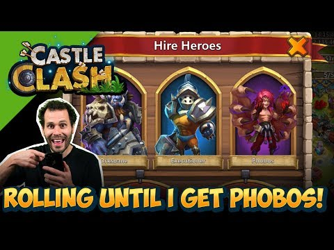 Rolling Until NEW HERO Phobos Shows Up... ONE TIME! Castle Clash