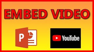 How to embed a YouTube video in a PowerPoint 2016 presentation - Tutorial