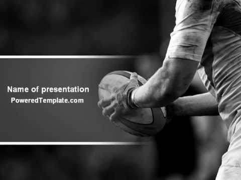 Rugby Football Powerpoint Template By PoweredtemplateCom  Youtube