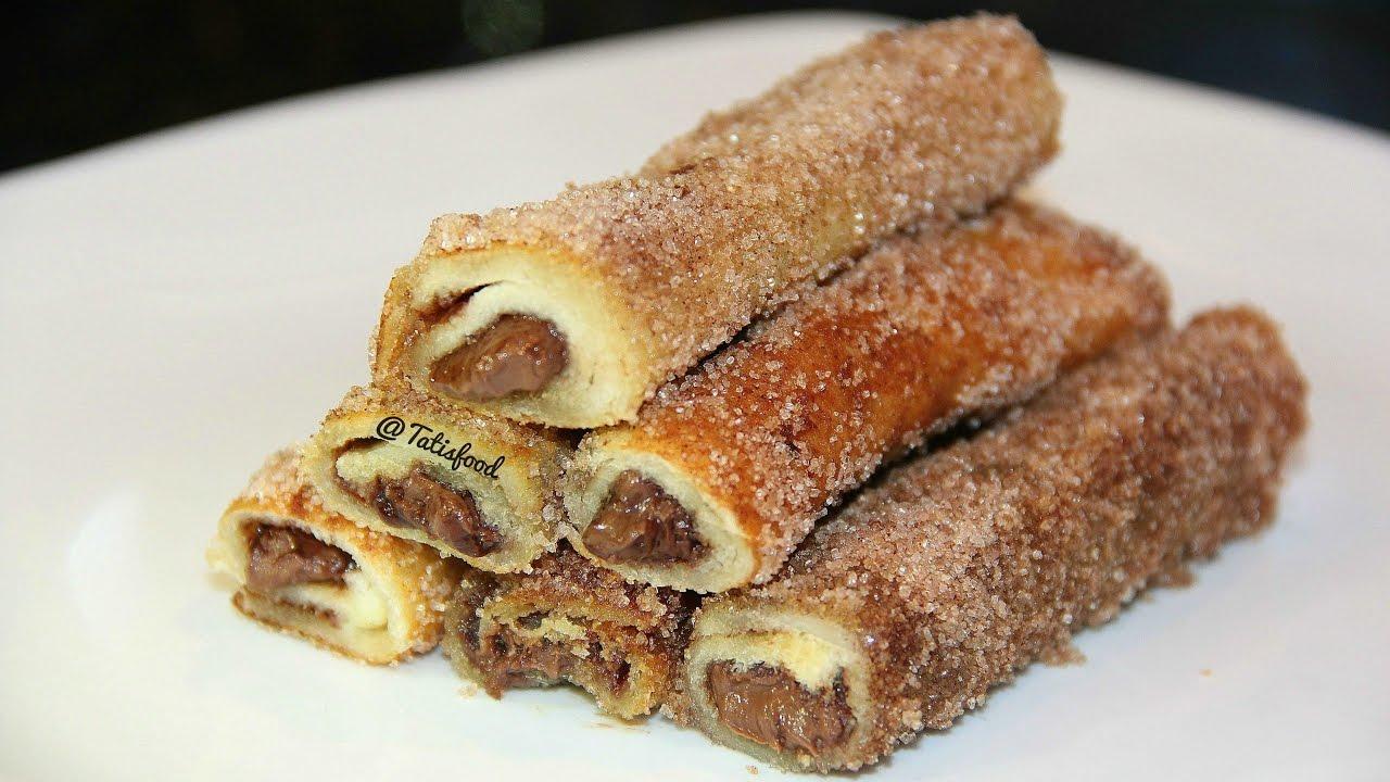 Faciles rollitos de pan con nutella - Easy nutella bread ...