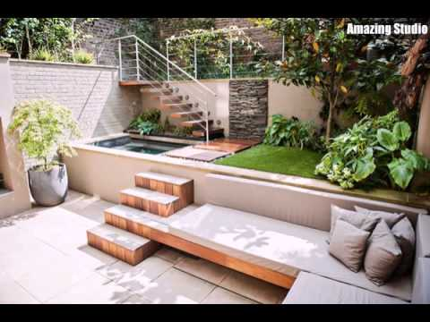Kleine hinterhof garten mit treppen youtube for Amenagement jardin vis a vis