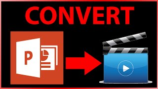 How to convert PowerPoint file (ppt / pptx) to mp4 video file for free - Tutorial