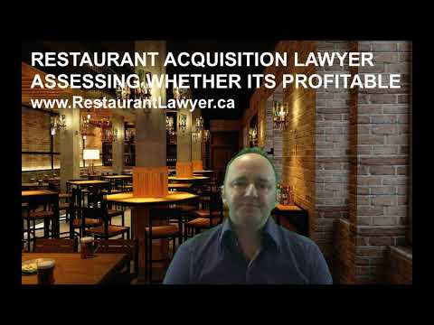 Restaurant Acquisition Lawyer: Assessing Whether Its Profitable