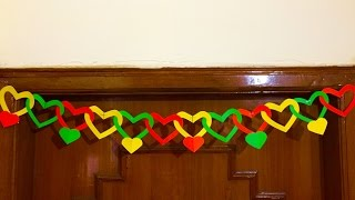 Paper Heart Door Decor | DIY Door hanging decoration | Valentine's day gift and decoration ideas