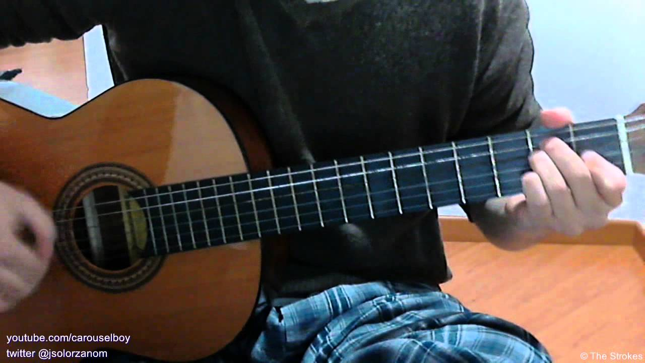 1251 The Strokes Acoustic Guitar How To Play Youtube