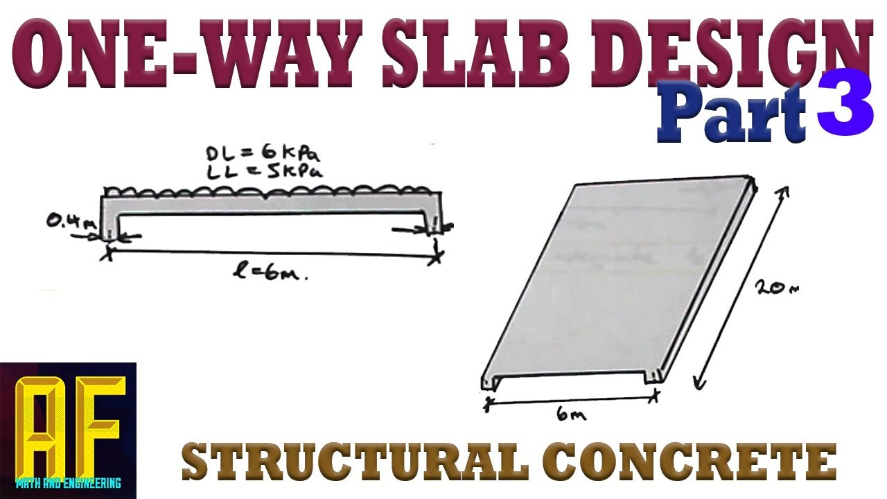 One-Way Concrete Slab Design Part 3 - Minimum Spacing, Shrinkage  Reinforcement, Crack Control