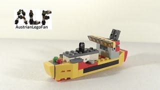 Lego Creator 31029 Modell 3v3 Cargo Ship / Frachtschiff - Lego Speed Build Review